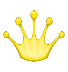 Gold crown icon cartoon style vector