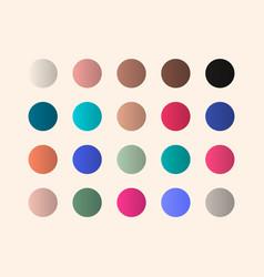 Gradient pallet full color template design vector