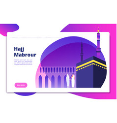 Hajj concept umrah hajj pray saudi people praying vector