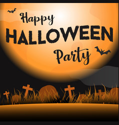 happy halloween party in the night background vector image