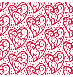 Heart seamless pattern love valentine day romantic vector