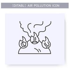 Household air pollution editable vector