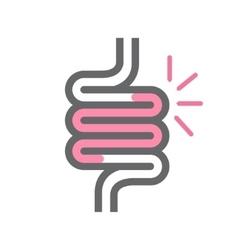 Intestine symbol or icon vector