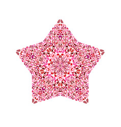 Isolated geometrical floral mosaic ornament star vector
