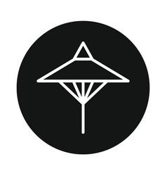 japan umbrela icon isolated on white background vector image