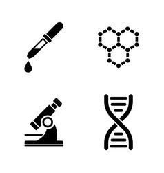 laboratory simple related icons vector image