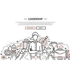 Leadership line flat design website banner vector image
