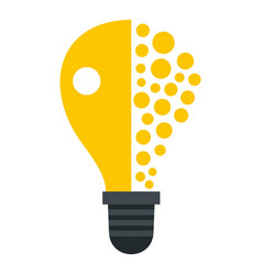 light bulb icon isolated vector image