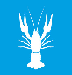 lobster icon white vector image