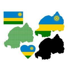 Map of Rwanda vector