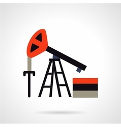 Oil extraction flat icon vector image