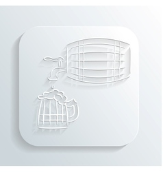 Oktoberfest beer keg icon vector image