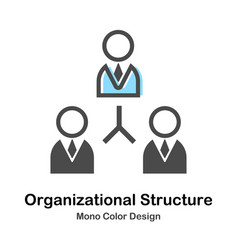 Organizational structure mono color vector