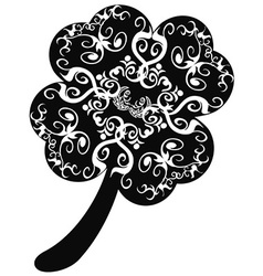 ornate clover leaf vector image