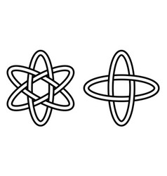 pattern digital science icon of the atom movement vector image