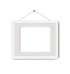 Picture frame with white background vector