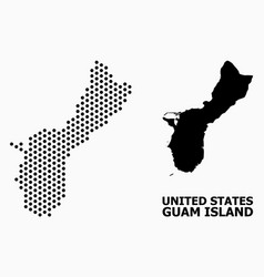 Pixelated pattern map guam island vector