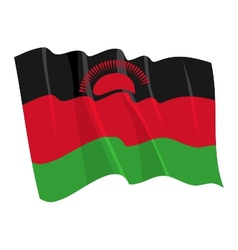 Political waving flag malawi vector