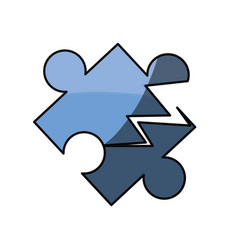 puzzle piece isolated vector image