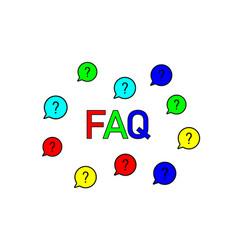 Questions speech bubble icon faq chat symbol vector