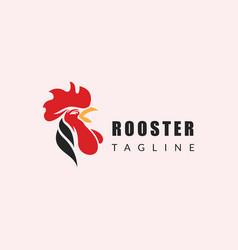 Rooster logo head logo animal creative vector