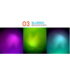 set of deep color blurred mesh wallpapers vector image