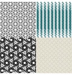 Set of geometric pattern in op art design art vector