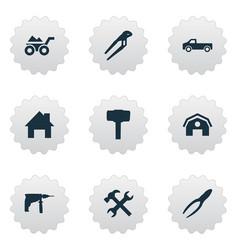set simple repair icons vector image