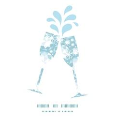 Shiny diamonds toasting wine glasses silhouettes vector