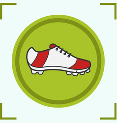 soccer boot color icon vector image