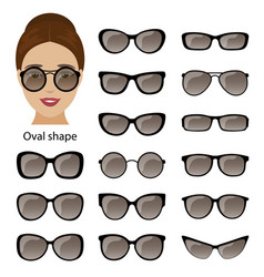 Spectacle frames and oval face vector