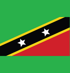 st kitts amp nevis flag for independence day vector image