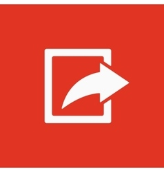 The share icon Action symbol Flat vector image