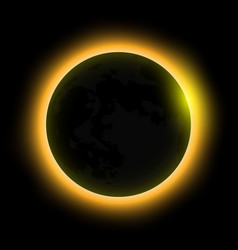 total solar eclipse eclipse of the sun vector image