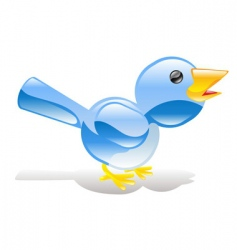 twitter icon vector image
