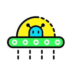 ufo icon set vector image
