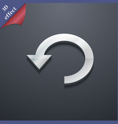 Upgrade arrow update icon symbol 3D style Trendy vector