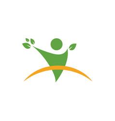 Wellness people graphic design template vector