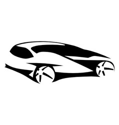 Car silhouette modern vector image vector image