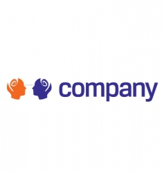 human head logo for charity vector image vector image