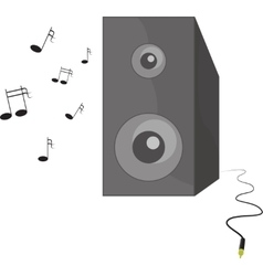 music playing speaker with vector image vector image