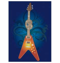 twisted electric guitar vector image vector image