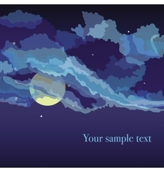 Background with overcast sky and night vector