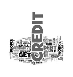 be wary of phony credit scams text word cloud vector image