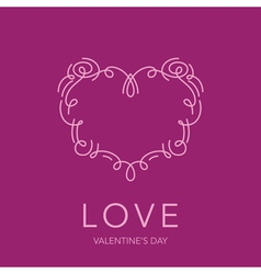 Heart Frame - Love Design for Valentines Day Logo vector image