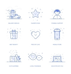 icons set shopping commerce vector image vector image