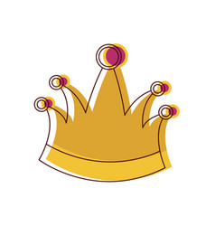 king crown in watercolor silhouette vector image
