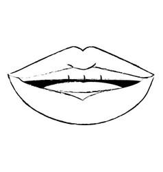 lips pop art cartoon vector image vector image