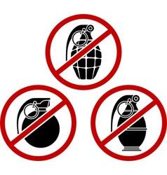 no grenades vector image