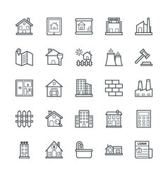 Real Estate Cool Icons 1 vector image vector image